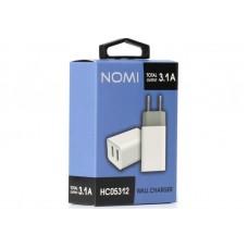 Адаптер сетевой Nomi HC05213 2USB 3.1A White (481612)