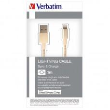 Кабель USB-Lightning Verbatim 1m Gold (48861)