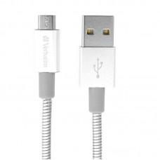 Кабель USB-MicroUSB Verbatim 1m Silver (48862)