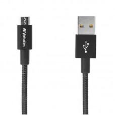 Кабель USB-MicroUSB Verbatim 1m Black (48863)