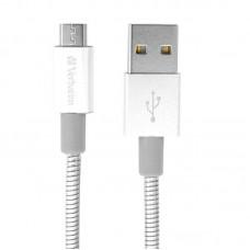 Кабель USB-MicroUSB Verbatim 0.3m Silver (48865)