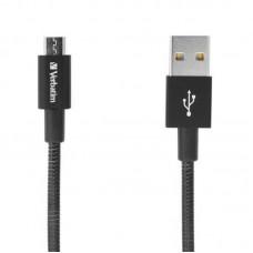 Кабель USB-MicroUSB Verbatim 0.3m Black (48866)