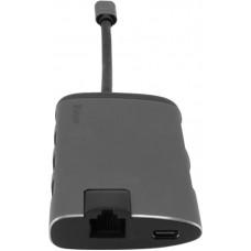 USB HUB Verbatim Type-C-HDMI-RJ45 3USB 3.0 Card Reader (49142) Silver/Black