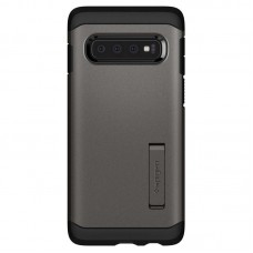 Чeхол накладка TPU Spigen Tough Armor для Samsung S10 G973 Gunmetal Grey (605CS25804)