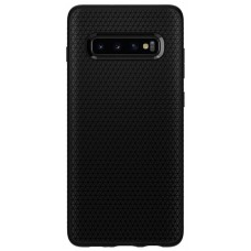 Чeхол накладка TPU Spigen Liquid Air для Samsung S10 Plus G975 Matte Black (606CS25764)