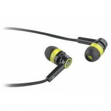 Наушники гарнитура вакуумные Defender Pulse 420 Black/Yellow (63421)