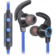 Наушники гарнитура вакуумные Bluetooth Defender OutFit B725 Bluetooth Black/Blue (63725)