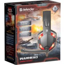 Наушники гарнитура накладные Defender Warhead G-370 Black/Red (64037)