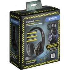 Наушники гарнитура накладные Defender Warhead HN-G110 Black (64102)