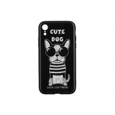 Чехол накладка TPU WK WPC-087 для iPhone XR Cute Dog Black (681920360759)