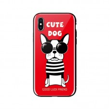 Чехол накладка TPU WK WPC-087 для iPhone XS Cute Dog Red (681920360797)