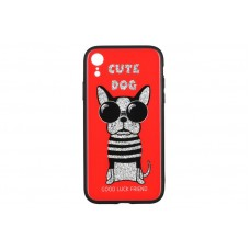 Чехол накладка TPU WK WPC-087 для iPhone XR Cute Dog Red (681920360803)