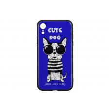 Чехол накладка TPU WK WPC-087 для iPhone XR Cute Dog Blue (681920360858)