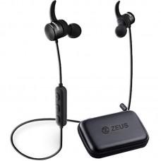 Наушники гарнитура вакуумные Bluetooth AirOn Zeus Magnet Black (6945545500232)