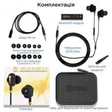 Наушники гарнитура вакуумные Bluetooth AirOn Zeus Bass Black (6945545500235)