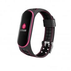 Ремешок TPU BeCover Lattice Style для Xiaomi Mi Band 5 Pink (705163)