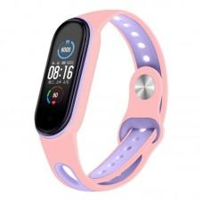 Ремешок TPU BeCover Sport Style для Xiaomi Mi Band 5 Pink/Purple (705172)