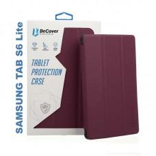 Чехол книжка PU BeCover Smart для Samsung Tab S6 Lite P610 P615 Red Wine (705216)