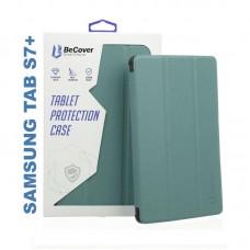 Чехол книжка PU BeCover Smart для Samsung Tab S7 Plus T970 T975 Dark Green (705227)