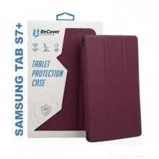 Чехол книжка PU BeCover Smart для Samsung Tab S7 Plus T970 T975 Red Wine (705229)