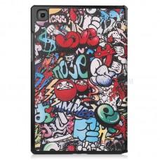 Чехол книжка PU BeCover Smart для Samsung Tab A7 T500 T505 T507 Graffiti (705948)