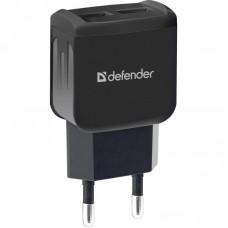 Адаптер сетевой Defender UPA-22 2USB 2.1A Black (83579)