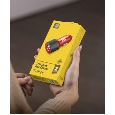 Адаптер автомобильный Luxe Cube 2USB 3.4A 17W Red (8886668686235)
