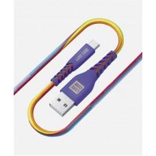 Кабель Luxe Cube Kevlar USB-MicroUSB 1.2m Violet (8886668686259)