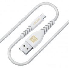 Кабель Luxe Cube Kevlar USB-MicroUSB 1.2m White (8886668686266)