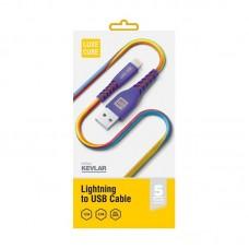 Кабель Luxe Cube Kevlar USB-Lightning 1.2m Violet (8886668686341)