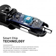 Адаптер автомобильный Luxe Cube 2USB 3.4A 17W Black (8886668698498)