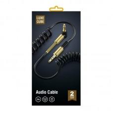 Кабель Audio Luxe Cube 3.5мм-3.5мм 90° Spring 2m Black (8886699944687)