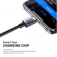 Кабель Luxe Cube USB-Lightning 3А 2m Black (8886888698445)