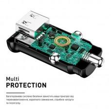 Адаптер автомобильный Luxe Cube 2USB 2.4A 12W White (8886899698465)