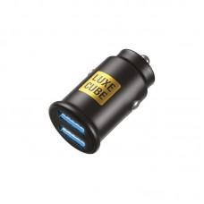 Адаптер автомобильный Luxe Cube 2USB 2.4A 12W Black (8886998698496)