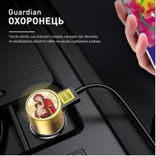 Адаптер автомобильный Luxe Cube Guardian М 2USB 3.4А 18W White (8889998698480)