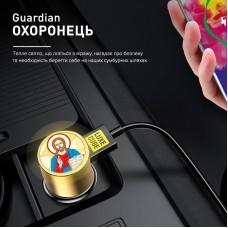 Адаптер автомобильный Luxe Cube Guardian J 2USB 3.4А 30W White (8889998698497)
