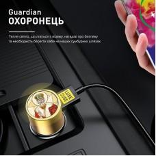 Адаптер автомобильный Luxe Cube Guardian N 2USB 3.4А 18W White (8889998898484)