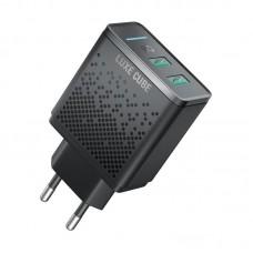 Адаптер сетевой Luxe Cube Smar 2USB AFC PD 12W 2.4A Black (8889998898996)