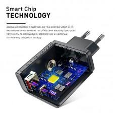 Адаптер сетевой Luxe Cube 2USB 36W 3A PD QC3.0 Black (8889998899092)