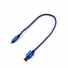 Кабель USB-MicroUSB Aspor A173 0.3m синий (910045)