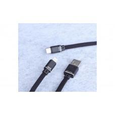 Кабель USB-MicroUSB Aspor A135 плоский 1.2m Black (910074)