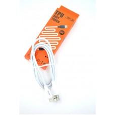 Кабель USB-Lightning Aspor A42 5A 1m Soft Touch White (910183)