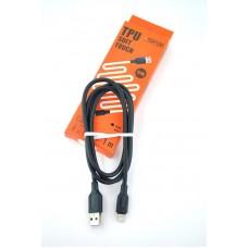 Кабель USB-Lightning Aspor A42 5A 1m Soft Touch Black (910184)