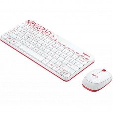 Комплект клавиатура + мышь Wireless Logitech MK240 White USB (920-008212)