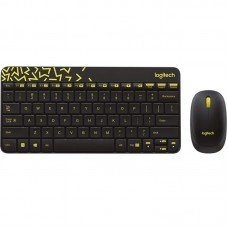Комплект клавиатура + мышь Wireless Logitech MK240 Black USB (920-008213)