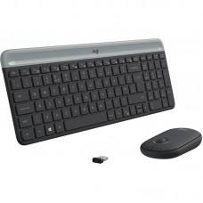 Комплект клавиатура + мышь Logitech MK470 Wireless Slim Graphite USB Black (920-009206)