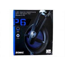 Наушники гарнитура накладные Somic P6 Black