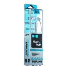 Наушники гарнитура вакуумные Aspor A201 White (965007)
