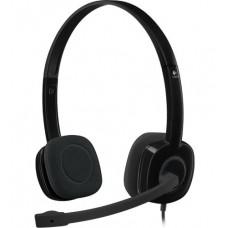 Наушники гарнитура накладные Logitech H151 Stereo Black (981-000589)